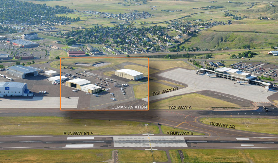 Holman Aviation Location in the Great Falls Airport